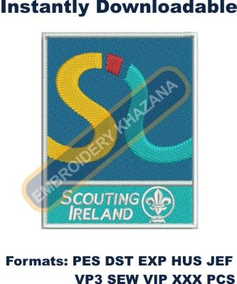 Irish scouting embroidery design